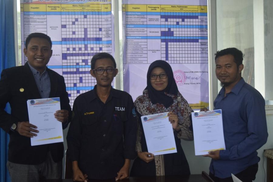 Dosen UNIMUDA Sorong Menandatangani Kontrak Penelitian dan Pengabdian Sumber Dana DRPM Tahun 2020